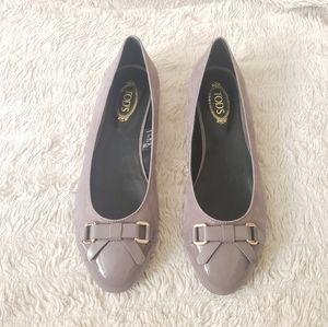 Tod's Purple smooth textured Elegant Flats 8.5